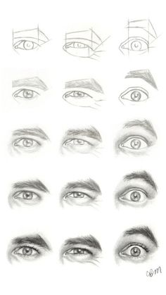 Realistic Drawing Tips Character Design Collection: Eyes AnatomyCharacter Design Collection: Eyes Anatomy Drawing Lessons, Drawing Techniques, Drawing Tips, Drawing Reference, Drawing Sketches, Pencil Drawings, Painting & Drawing, Art Drawings, Drawing Faces