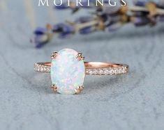 HANDMADE RINGS & BRIDAL SETS by MoissaniteRings on Etsy Vintage Opal Engagement Ring, Anniversary Gift For Her, Bridal Ring Sets, Handmade Rings, Diamond Clarity, Natural Diamonds, Colored Diamonds, Gifts For Her, White Gold