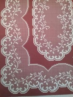 Crochet Table Topper, Crochet Tablecloth Pattern, Crochet Square Patterns, Crochet Doilies, Crochet Flowers, Cross Stitch Patterns, Sewing Patterns, Hardanger Embroidery, Crochet Home