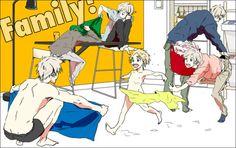 Hetalia - Denmark, Sealand, Finland, Sweden, Iceland, and Norway : Nordic Family