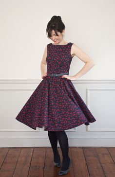 Sew Over It Betty Dress sewing pattern. Get the sewing pattern here: http://sewoverit.co.uk/product/betty-dress-sewing-pattern/