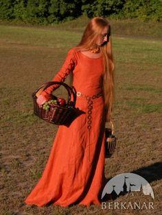 """Средневековое платье """"Рыжая элис"""""""