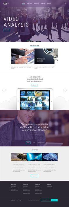Ox concept homepage by Tom for Blink Interactive