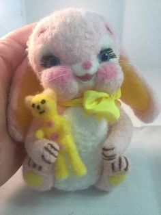 Clara A Kawaii Kitsch baby rabbit By Crookshank Bears - Bear Pile
