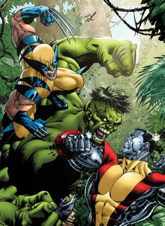 Colossus and Wolverine vs Hulk