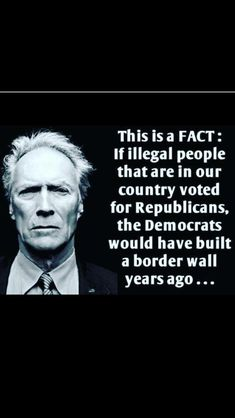 Clint Eastwood shares his thoughts Great Quotes, Inspirational Quotes, Liberal Logic, Political Quotes, Conservative Politics, Reality Check, Truth Hurts, People Quotes, We The People