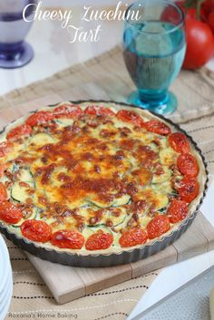 Cheesy zucchini tart -       a crowd pleaser may it be at your next picnic, potluck or just family dinner.