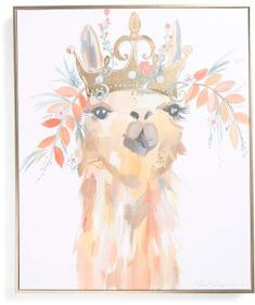 llama art print - boho and whimsical nursery theme - x Liesel Llama Canvas Wall Art. See llama gift ideas.