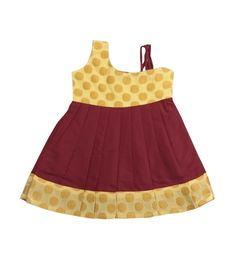 Pattu Pavadai New Born Babies Brocade Designer Frock (Maroon & Golden; 6 Months - 2 Years) Source by pattupavadais Blouses Baby Girl Dresses, Girl Outfits, Baby Girls, Indian Baby Girl, Kids Lehenga Choli, Raw Silk Lehenga, Cotton Frocks, Party Frocks, Kids Frocks