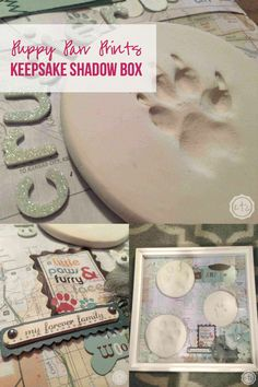 This little keepsake box is so pretty, I love how sweet of a remembrance it is. I love the cute little puppy paw prints... I want to make one for my sweet little fur babies so I have a little reminder of him every day. Click through and read more or re-pin for later! @HappilyEverAEtc