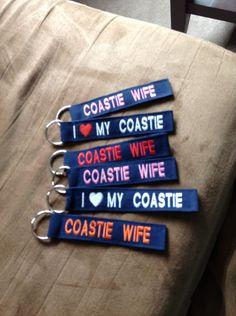Custom Coast guard keychains by CoastieCreationz on Etsy, $13.00