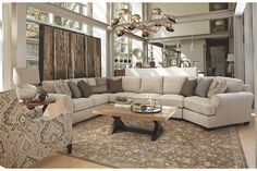 Linen Wilcot 4-Piece Sofa Sectional with Cuddler: Sale price $2180