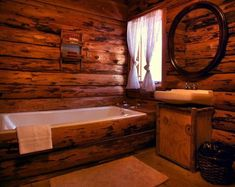 Nothin' fancy but still a cabin! What would you add to this bathroom?