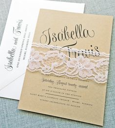 Gorgeous script on this wedding invitation