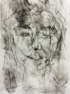 Image result for drypoint william kentridge Intaglio Printmaking, Collagraph, Grafic Art, Drypoint Etching, Purple Art, Black Artists, Etchings, Figurative Art, Painting Inspiration