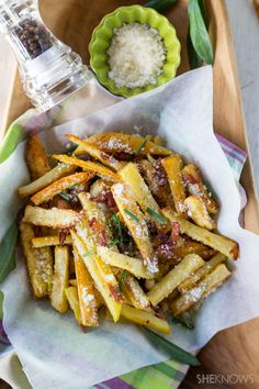 Pecorino and bacon french fries recipe