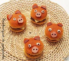 Pig sandwich for children