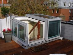 Semi-Retracting Roof Access Hatch
