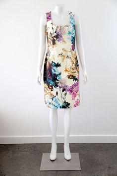 NWT  Moss & Spy  Women s Sleeveless Fitted Floral Print Dress RRP $405 {Size 12}