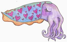 Sepia Puppy: Cuttlefish Art Gallery