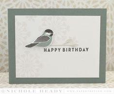 Chickadee Birthday Card by Nichole Heady for Papertrey Ink (November 2015)