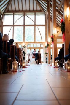 Ceremony Barn at Rivervale Barn http://www.efcphotography.co.uk/index.php/wedding/lorna-and-jp-a-rivervale-barn-wedding/ #weddingvenue #berkshirewedding #barnwedding