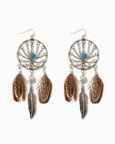 Dreamcatcher Feather Earrings | UPC: 410007202237