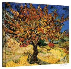 Vincent van Gogh 'The Mulberry Tree' Wrapped Canvas Stretched Canvas Print by Vincent van Gogh at Art.com