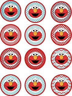 Pack fiesta imprimible de cumpleaños de Elmo por CarolinaInvites Sesame Street Birthday Cakes, Elmo Birthday Cake, Sesame Street Party, Birthday Party Tables, Boy Birthday Parties, Birthday Ideas, Elmo Plaza Sesamo, Elmo Party Decorations, Baby Elmo