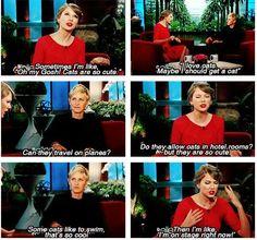 Haha! Taylor Swift & Ellen DeGeneres! The look on Ellen's face!!! Haha!!!