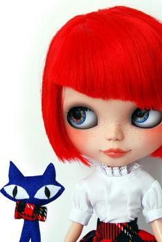 Custom Blythe Red Hair <3