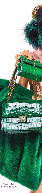 Dolce & Gabbana  ~ Kelly Green Alligator Leather Bags 2016