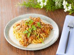 ミートソーススパゲッティしょうゆ合わせ米麹風味