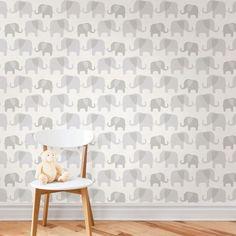 NUWALLPAPER ELEPHANT PARADE PEEL & STICK WALLPAPER GREY NU1405 FINE DECOR | eBay