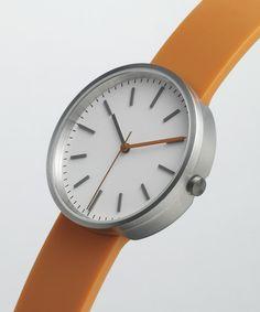 104 SERIES Brushed Steel / Orange Rubber   Uniform Wares http://uniformwares.com/shop/104-series-brushed-steel-orange-rubber