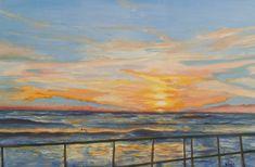 #ölmalerei #Kunst #Portugal #Meer #Sonnenuntergang Create Yourself, Portugal, Etsy Seller, Creative, Painting, Art, Painted Canvas, Sunset, Kunst