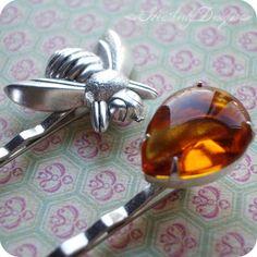 Honey+Hunter+vintage+glass+rhinestone+and+by+HeatherlyDesigns,+$18.00