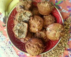 Banana Muffins with Fiber One® Protein Cereal #QueRicaVida