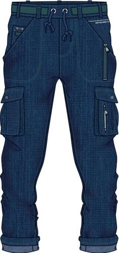 geometral  artistico de pantalón de denim