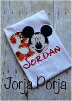 This is the perfect shirt for a mickey birthday party. This shirt comes in all sizes. Shirt Sizes: Infant Toddler Sizes Girl Youth sizes: Unisex Youth sizes: Adult sizes: Other sizes Available even Sons Birthday, Mickey Mouse Birthday, Birthday Shirts, Mickey Mouse Party Supplies, Mickey Mouse Parties, Graphic Shirts, Kid Names, Onesies, Sewing Projects