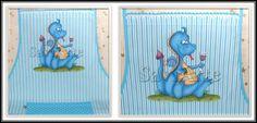 Avental pintado com dragão azul