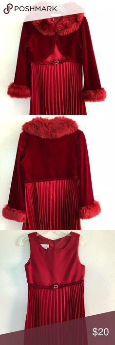 Bonnie Jean 2 Pc Christmas Dress Set Bonnie Jean 2 Piece Christmas Dress.  Dress- 100% Polyester Bonnie Jean Dresses