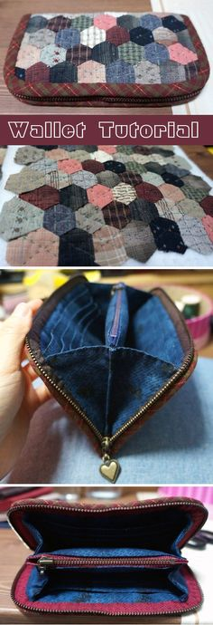 Sew Purse Wallet Patchwork & Quilts technique. DIY tutorial in pictures.  http://www.handmadiya.com/2015/09/patchwork-purse-wallet-tutorial.html