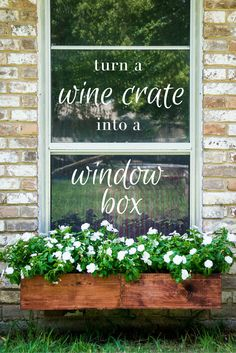 Turn a Wine Crate into a Window Box >> http://www.hgtvgardens.com/photos/diy-wine-crate-window-boxes?soc=pinterest