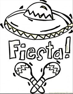 Enjoy these printable Fiesta Coloring Pages, including Mexican ...