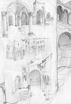 alan_lee_the lord of the rings_sketchbook_13_minas tirith05_med.jpg (343×500)