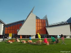 Il giorno di presentazione di Futura Trento nel parco delle Albere accanto al #MUSE  #futuratrento