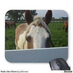 Peek a Boo Horse Mouse Pad