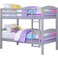 Twin Wood Bunk Bed, Solid Wood Construction, Gray Mainstays https://www.amazon.com/dp/B01FS4NXUG/ref=cm_sw_r_pi_dp_E9lKxbV94T4PV