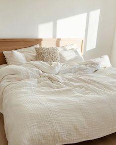 King 3pc Flax Linen Duvet Set … curated on LTK Cute Bedroom Decor, Room Ideas Bedroom, Dream Bedroom, Home Bedroom, Wooden Headboards, Headboards For Beds, No Headboard Bed, Modern Master Bedroom, Master Bedroom Design
